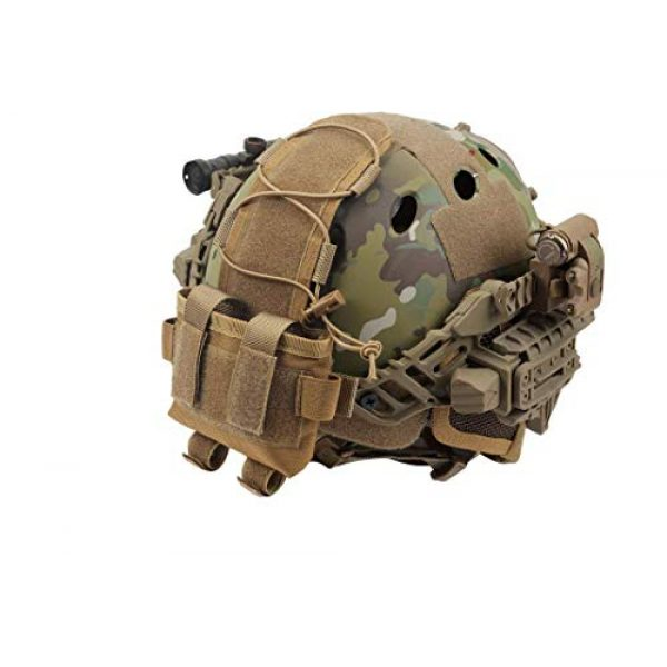 wolfslaves Tactical Pouch 1 wolfslaves Helmet Battery Pouch MK2 Helmet Battery Pouch Counterweight 600D Nylon Helmet Battery Bag for Shooting, Cycling, Hiking, Camping