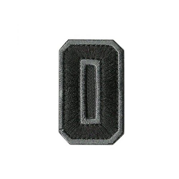 Gadsden and Culpeper Airsoft Morale Patch 3 Tactical Numbers Patches - Silver/Black