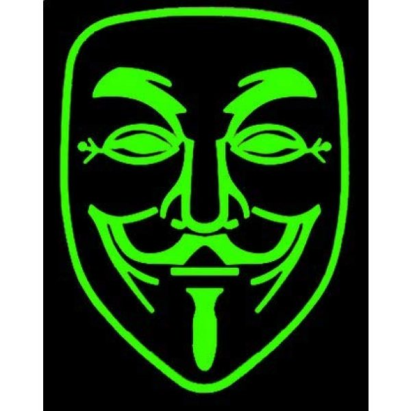 Tactical PVC Patch Airsoft Morale Patch 2 Noctilucous Anonymous V for Vendetta Morale Military Patch 3D PVC Rubber Tactical Rubber Hook Patch (color1)