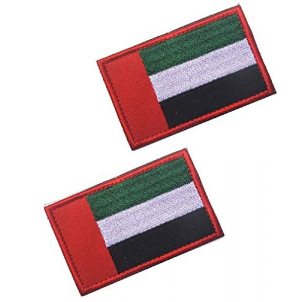 Tactical Embroidery Patch Airsoft Morale Patch 1 2pcs United Arab Emirates Flag Embroidery Patch Military Tactical Morale Patch Badges Emblem Applique Hook Patches for Clothes Backpack Accessories