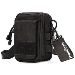 IronSeals Tactical Pouch 1 IronSeals Utility First Aid EMT Pouch, Durble Nylon Tactical Molle Pouch Waist Bag Phone Holster with Detachable Strap for iPhone 12 Pro