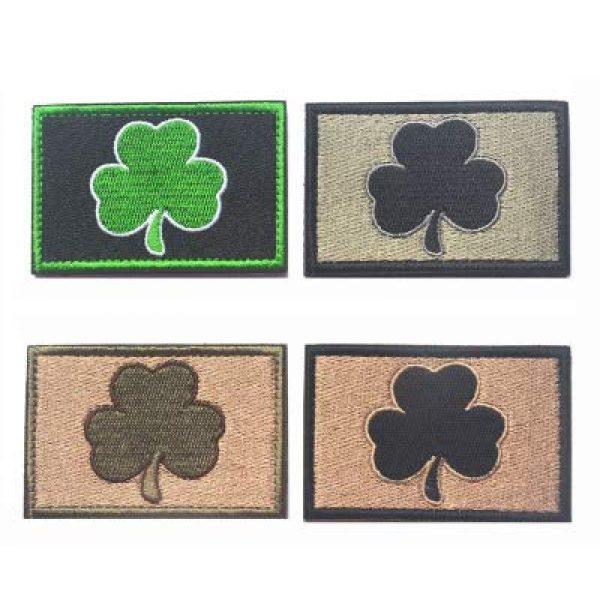 "Antrix Airsoft Morale Patch 1 Antrix 4 Pieces Irish Shamrock Military Badge Emblem Patch Hook & Loop Tactical Shamrock Lucky Clover Badge Emblem Patch - 3.15""x2"""