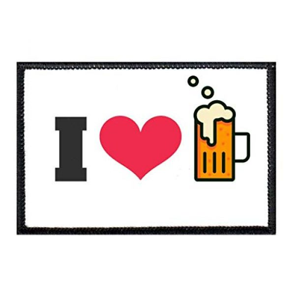 P PULLPATCH Airsoft Morale Patch 1 I Love Beer Morale Patch   Hook and Loop Attach for Hats, Jeans, Vest, Coat   2x3 in   by Pull Patch