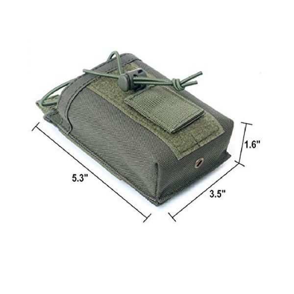 """abcGoodefg Tactical Pouch 2 abcGoodefg 1000D Adjustable Molle Tactical Pouch Radio Holster Case Walkie Talkie Holder Duty Belt, 5.3""""x 3.5""""x 1.6"""" (Amy Green)"""