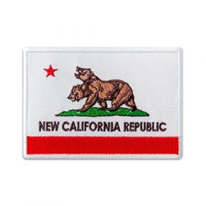 Embrosoft Airsoft Morale Patch 1 Fallout Patch - New California Republic Flag - Embroidered Patches Iron On, 4 x 2.8 inches