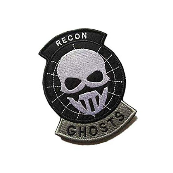 Embroidery Patch Airsoft Morale Patch 2 US Recon Ghosts Military Hook Loop Tactics Morale Embroidered Patch (color3)