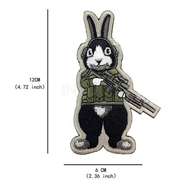 Unknown Airsoft Morale Patch 6 Patches 3D Tactical Military Rabbit Dog Embroidery Patch Morale Patches Emblem Badges Appliques Combat Embroidered Patches for Clothing - (Color: Dog)