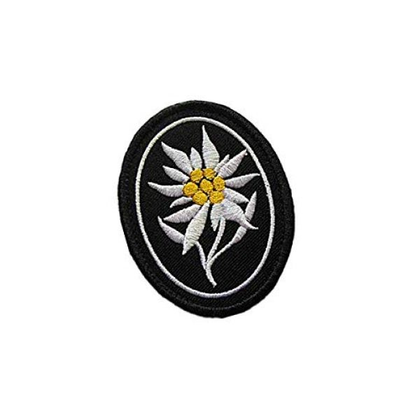 Embroidery Patch Airsoft Morale Patch 2 WW2 German Mountain Division Elite Edelweiss Military Hook Loop Tactics Morale Embroidered Patch