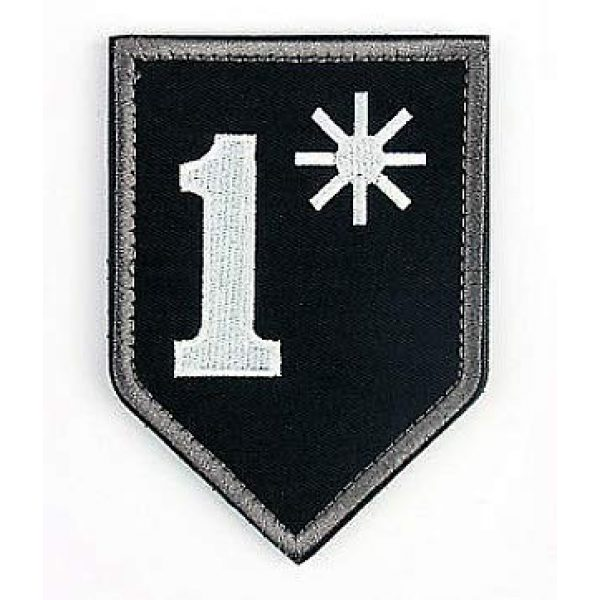 Embroidery Patch Airsoft Morale Patch 1 1 One Ass to Risk Asterisk Military Hook Loop Tactics Morale Embroidered Patch
