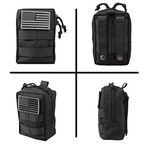 AMYIPO Tactical Pouch 5 AMYIPO MOLLE Pouch Multi-Purpose Compact Tactical Waist Bags Small Utility Pouch