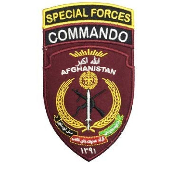 Tactical Embroidery Patch Airsoft Morale Patch 1 Afghanistan Special Forces Commando Embroidery Patch Military Tactical Morale Patch Badges Emblem Applique Hook Patches for Clothes Backpack Accessories