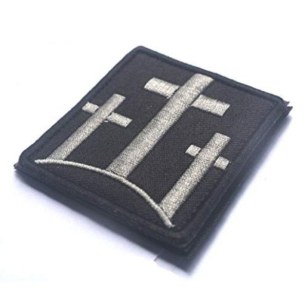 ALIPLUS Airsoft Morale Patch 1 3 Crosses Christian Catholic Tactical Patch Usa Infidel Army Black Ops Swat Patch Jesus Christian Faith Blessed Crucifix Symbol Military Morale Embroidered Patch Badge (3 CROSSES CHRISTIAN_1)