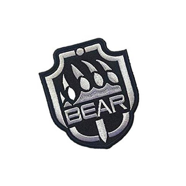 Embroidery Patch Airsoft Morale Patch 2 Escape from Tarkov Bear Military Hook Loop Tactics Morale Embroidered Patch