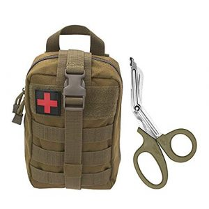 ASATechmed Tactical Pouch 7 ASATechmed Tactical Military MOLLE EMT First Aid IFAK Utility Medical Pouch Plus Free Matching Color EMT Shears Ideal Gift for First Responder, EMT, Paramedics, Soldiers, Police and Many More