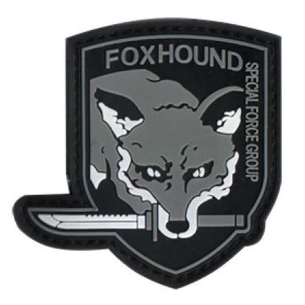 Tactical PVC Patch Airsoft Morale Patch 1 Metal Gear Solid Fox Hound Special Forces Morale Military Patch 3D PVC Rubber Tactical Rubber Hook Patch (color3)