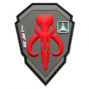 "Miltacusa Airsoft Morale Patch 1 Mandalorian Bounty Hunter Boba Fett Patch (Velcro Brand"" Fastener - 3D-PVC Rubber-MTB4)"