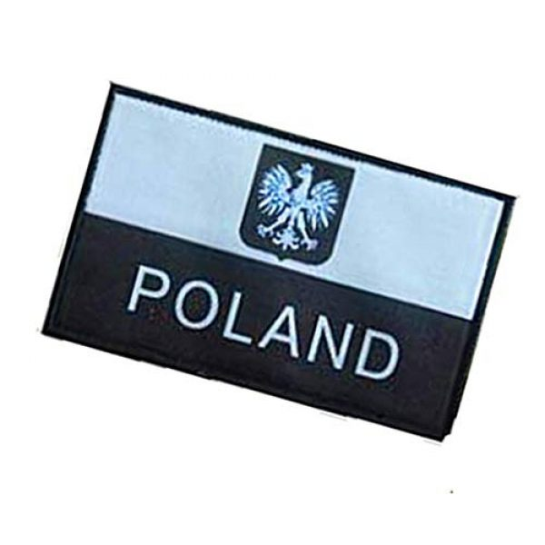 Fine Print Patch Airsoft Morale Patch 3 Polish Poland Flag Poland Eagle Military Hook Loop Tactics Morale Patch