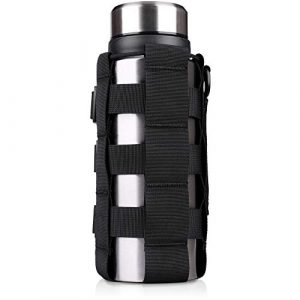 WYNEX Tactical Pouch 1 WYNEX Tactical Water Bottle Pouch of Weave Design, MOLLE Bottle Holder Kettle Pouches Hydration Carrier Bag, Adjustable H20 Bottle Holster Waist Pack for Hydro Flask, Nalgene, Contigo Bottle