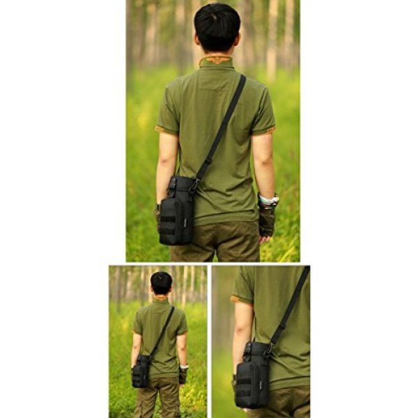ArcEnCiel Tactical Pouch 3 ArcEnCiel Molle Water Bottle Pouch Tactical Military Kettle Set Holder Hydration Bag Carrier Pocket for Camping Climbing Cycling Hiking Travelling