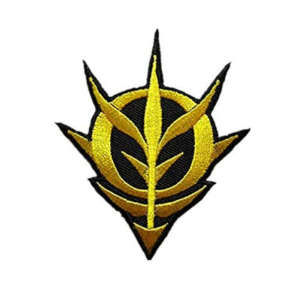 Embroidery Patch Airsoft Morale Patch 1 Mobile Suit Gundam -Zeon Military Hook Loop Tactics Morale Embroidered Patch (color1)