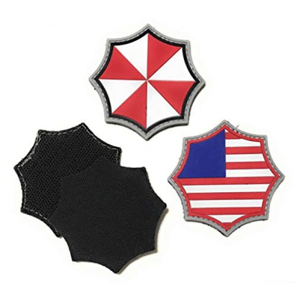 Umbrella Corporation Airsoft Morale Patch 2 Umbrella Corporation PVC Morale Patch - 3 Designs with Hook & Loop Backer