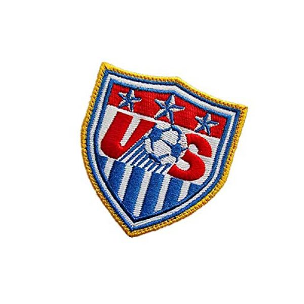 Embroidery Patch Airsoft Morale Patch 3 USA United States World Cup Football Soccer Club Team Military Hook Loop Tactics Morale Embroidered Patch