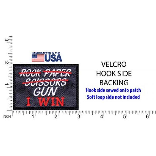 Tactical Patch Works Airsoft Morale Patch 2 Rock Paper Scissors Gun I Win Patch