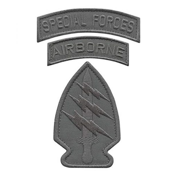 LEGEEON Airsoft Morale Patch 1 LEGEEON Bundle Set of 3 Wolf Gray Grey Patches Special Forces SF Airborne US Army Military Morale Tactical Badges