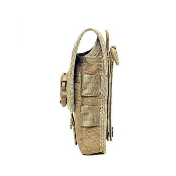 Azarxis Tactical Pouch 5 Azarxis Tactical Cell Phone Holster Pouch, Tactical Smartphone Pouches EDC Cellphone Case Molle Gadget Bag Molle Attachment Belt Holder Waist Bag