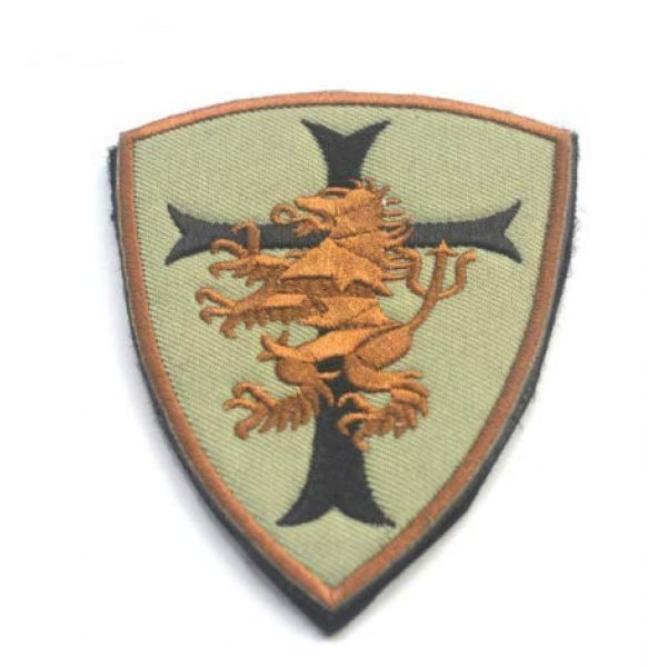 Tactical Embroidery Patch Airsoft Morale Patch 1 Devgru Lion Cross Crusader Embroidery Patch Military Tactical Morale Patch Badges Emblem Applique Hook Patches for Clothes Backpack Accessories