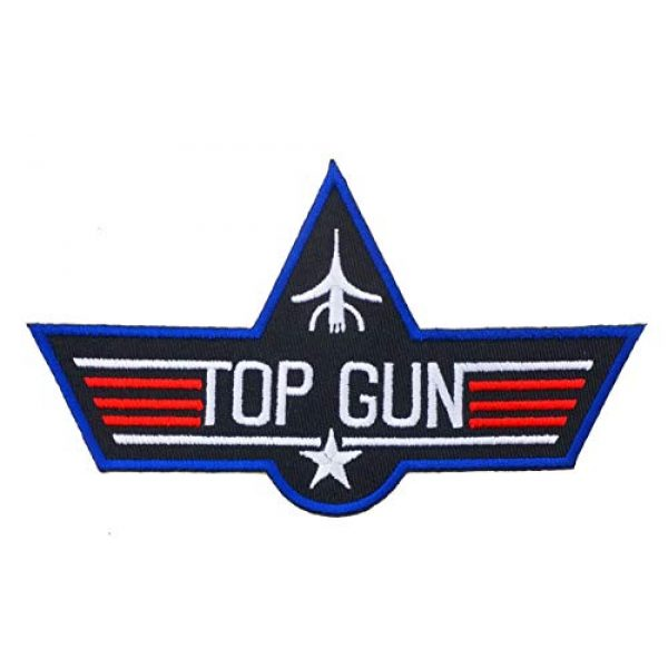 Graphic Dust Airsoft Morale Patch 2 Top Gun Iron On Embroidered Patch Logo Sew Jacket Uniform