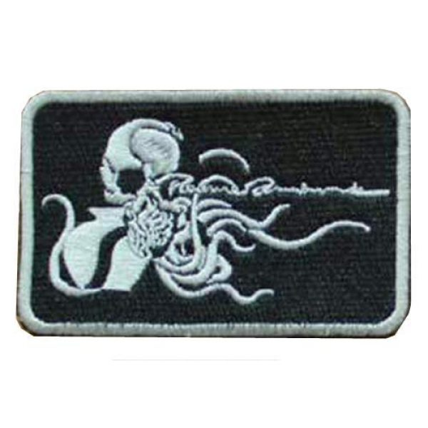 Embroidery Patch Airsoft Morale Patch 1 Metal Gear Solid Octopus Military Hook Loop Tactics Morale Embroidered Patch