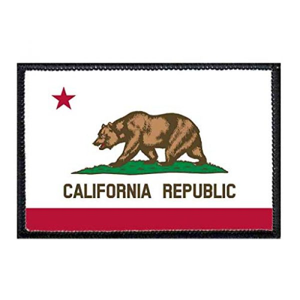 P PULLPATCH Airsoft Morale Patch 1 California State Flag Morale Patch | Hook and Loop Attach for Hats, Jeans, Vest, Coat | 2x3 in | by Pull Patch