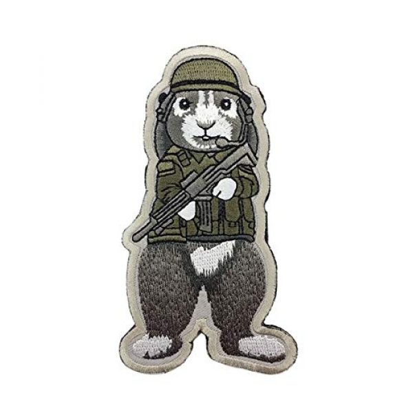 Unknown Airsoft Morale Patch 1 Patches 3D Tactical Military Rabbit Dog Embroidery Patch Morale Patches Emblem Badges Appliques Combat Embroidered Patches for Clothing - (Color: Dog)