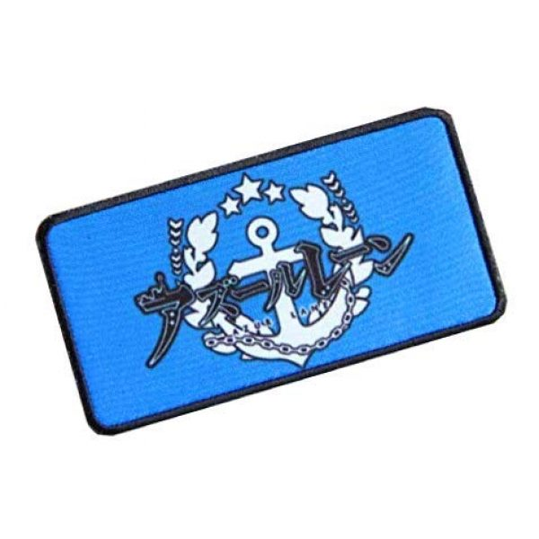 Fine Print Patch Airsoft Morale Patch 2 Azur Lane Patch Military Hook Loop Tactics Morale Printed Patch (color2)