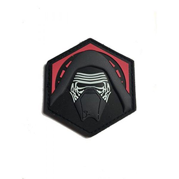 """Empire Tactical USA Airsoft Morale Patch 1 KYLO REN 3D PVC GITD Morale Patch 2.5"""" x 2.5"""""""