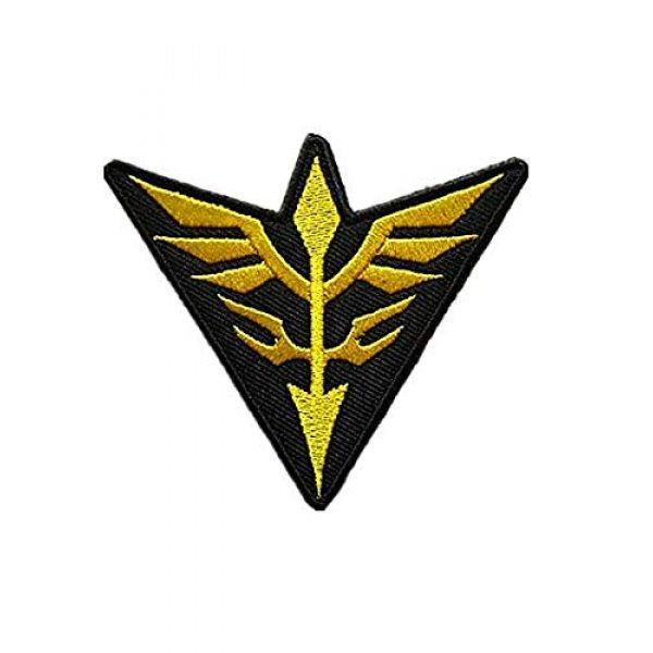 Embroidery Patch Airsoft Morale Patch 2 2 Pieces Mobile Suit Gundam -Zeon Military Hook Loop Tactics Morale Embroidered Patch (color3)