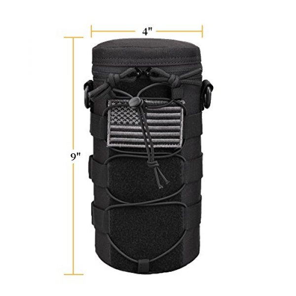 AMYIPO Tactical Pouch 5 AMYIPO Water Bottle Pouch Molle Tactical Holder Storage Bag for 32oz Carrier