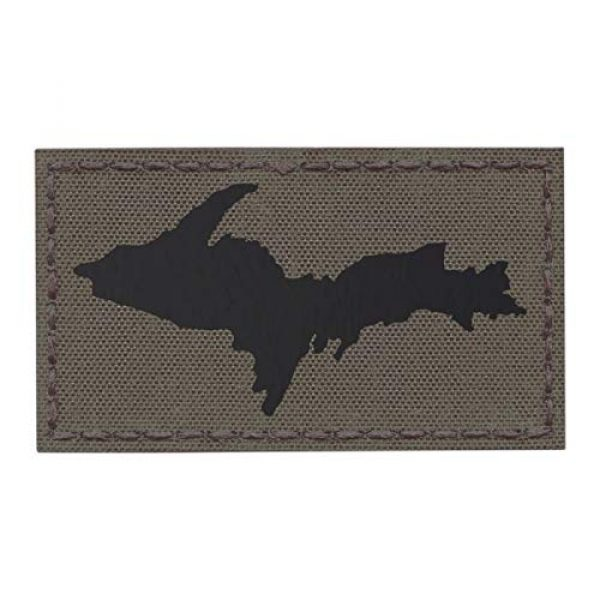 Tactical Freaky Airsoft Morale Patch 1 IR Ranger Green Yooper Upper Peninsula Michigan UP 2x3.5 Infrared IFF Tactical Morale Fastener Patch