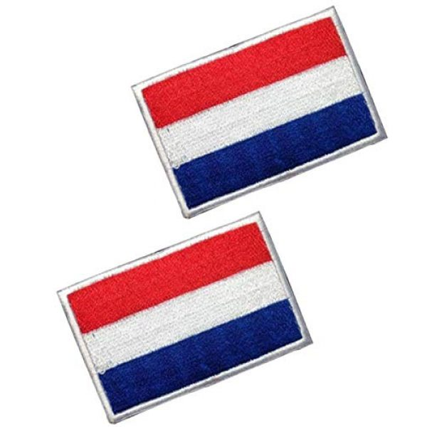 Tactical Embroidery Patch Airsoft Morale Patch 1 2pcs Netherlands Flag Embroidery Patch Military Tactical Morale Patch Badges Emblem Applique Hook Patches for Clothes Backpack Accessories