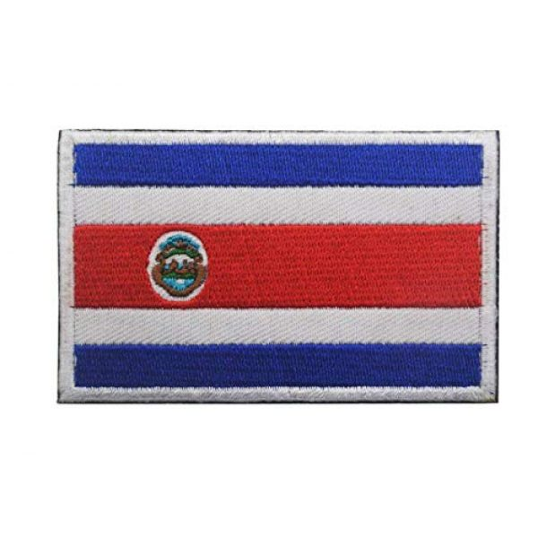 Tactical Embroidery Patch Airsoft Morale Patch 1 Costa Rica Flag Embroidery Patch Military Tactical Morale Patch Badges Emblem Applique Hook Patches for Clothes Backpack Accessories