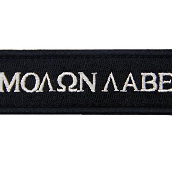 EmbTao Airsoft Morale Patch 2 Tactical Molon Labe Spartan Morale Fastener Hook & Loop Patch - Black