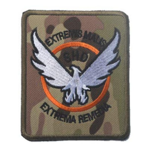 Embroidery Patch Airsoft Morale Patch 4 3 Pieces Tom Clancy's The Division Agent SHD Logo Military Hook Loop Tactics Morale Embroidered Patch (color4)