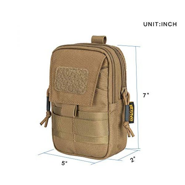 EXCELLENT ELITE SPANKER Tactical Pouch 3 Tactical Molle EDC Pouch Utility Molle Pouch Coyote Brown