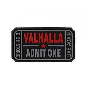 DDT VETERAN OWNED AND OPERATED Airsoft Morale Patch 1 DDT Valhalla Admit One PVC Morale Patch