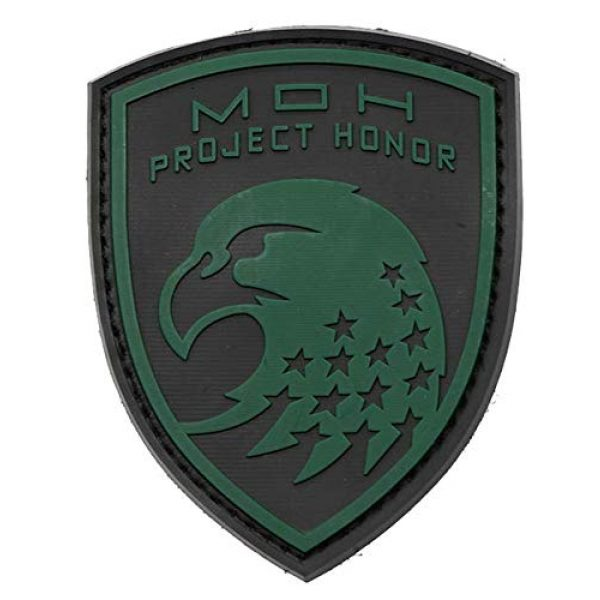 Tactical PVC Patch Airsoft Morale Patch 1 Medal of Honor MOH Eagle PVC Military Tactical Morale Patch Badges Emblem Applique Hook Patches for Clothes Backpack Accessories