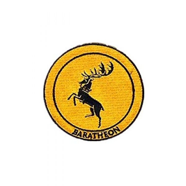 Embroidery Patch Airsoft Morale Patch 1 Game of Thrones House Baratheon Military Hook Loop Tactics Morale Embroidered Patch