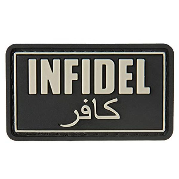 G-Force Airsoft Morale Patch 1 G-Force Infidel PVC Morale Patch - Black
