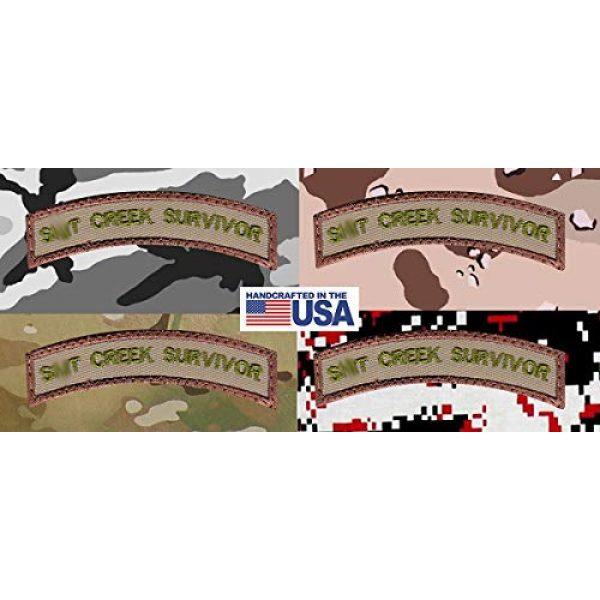 Tactical Patch Works Airsoft Morale Patch 4 Sh-t Creek Survivor Rocker Patch
