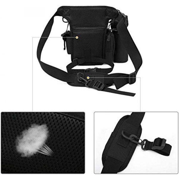 ACOMOO Tactical Pouch 7 ACOMOO Tactical Drop Leg Waist Bag Mens Outdoor Sport Thigh Hip Pack Utility Pouch Black